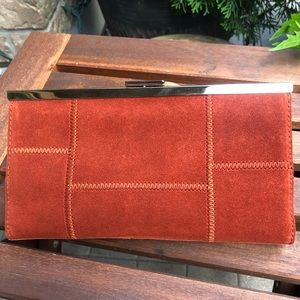 New with tags Banana Republic Suede Clutch Purse
